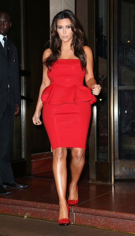 Kim-Kardashian-red dress