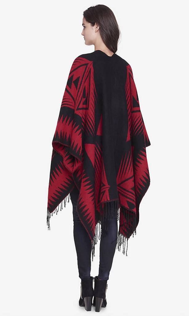 fringe blanket cover up back