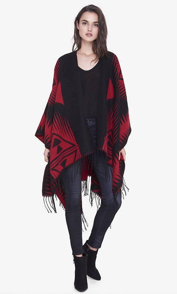 fringe blanket cover up front